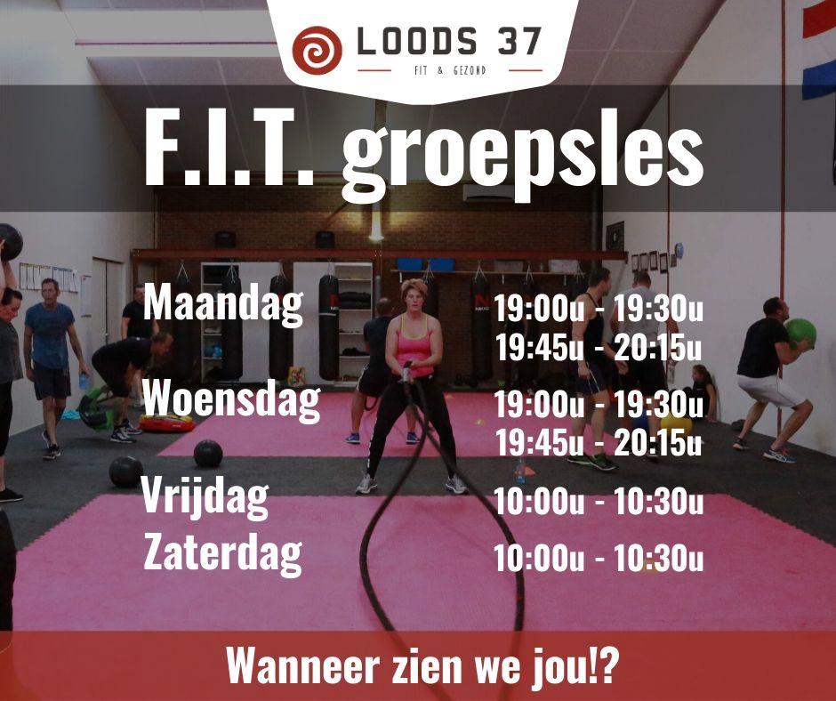 FIT groepslessen bij Loods 37 Fitness te Weert