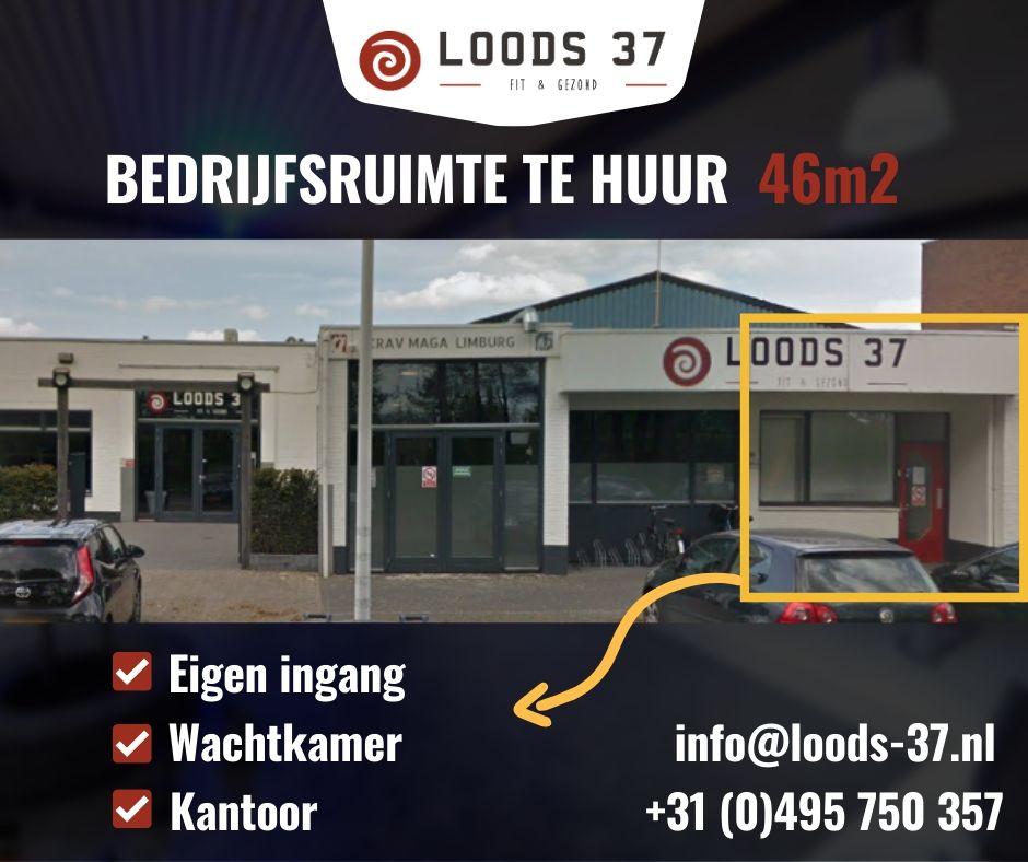 bedrijfsruimte te huur bij Loods 37 aan de Doctor Schaepmanstraat 37 te Weert